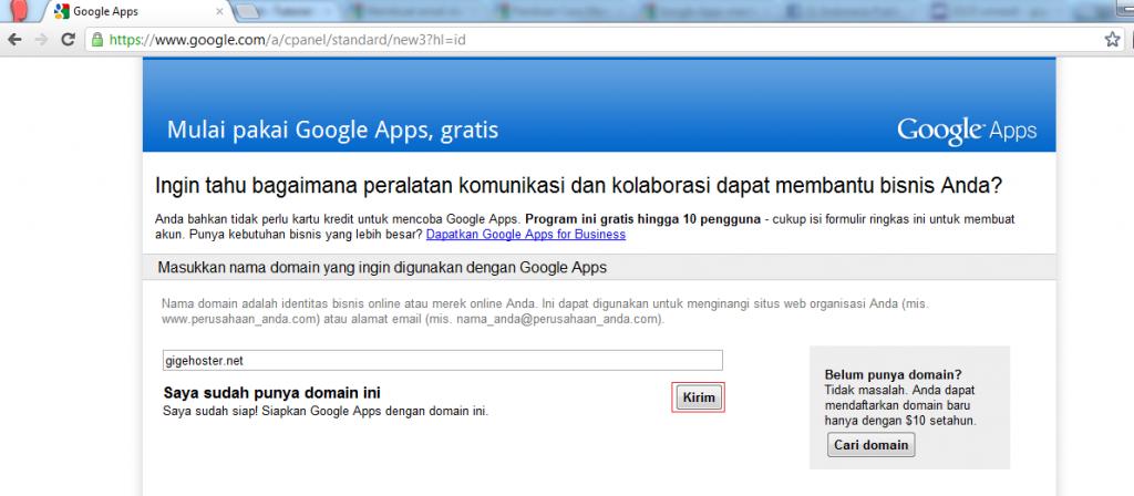 Membuat email dengan domain pribadi